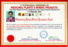 Outstanding Herbal Medical Formulator Award